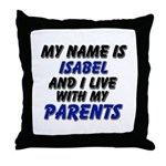 my name is isabel and I live with my parents Throw