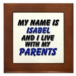 my name is isabel and I live with my parents Frame