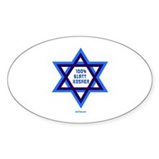 Glatt Kosher Funny Jewish Oval Decal