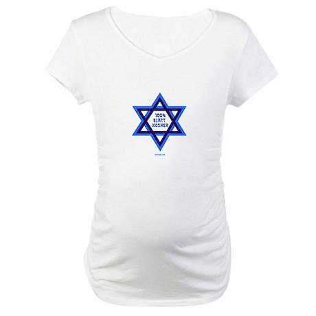 Glatt Kosher Funny Jewish Maternity T-Shirt