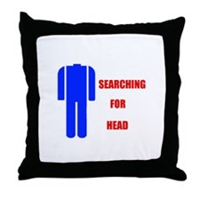 HEAD SEARCHER Throw Pillow