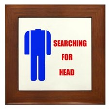 HEAD SEARCHER Framed Tile