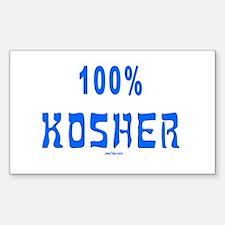 100% Kosher Rectangle Decal