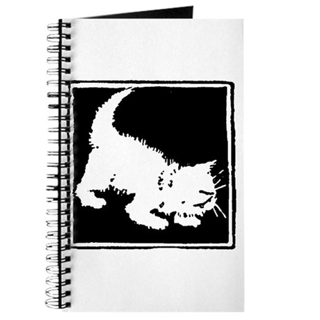 Playful Kitty Silhouette Journal