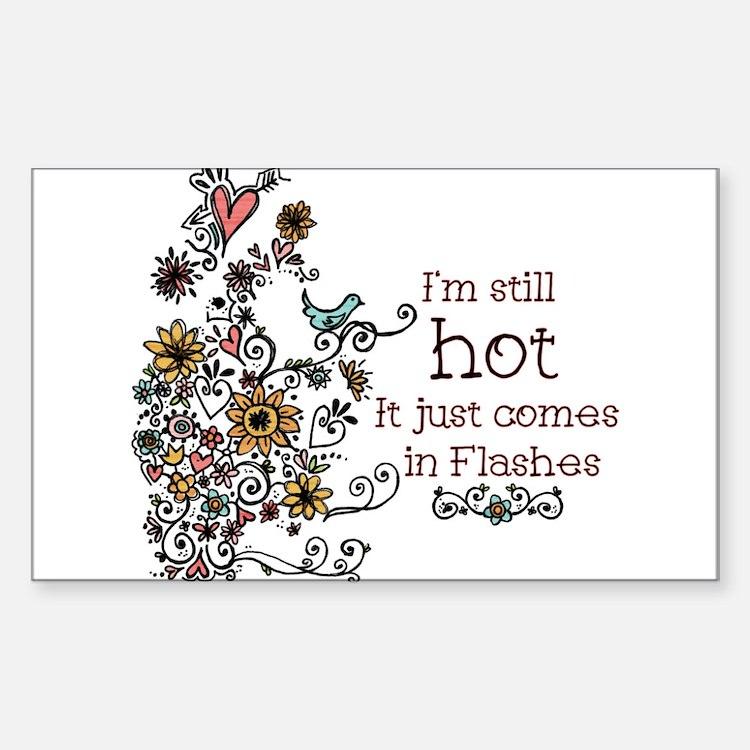Hot Flash Rectangle Decal