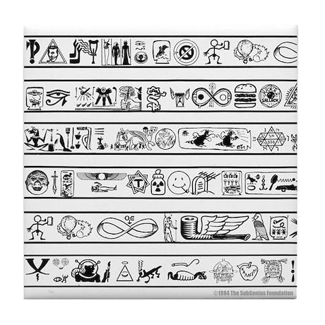 SubHieroglyphics Tile Coaster