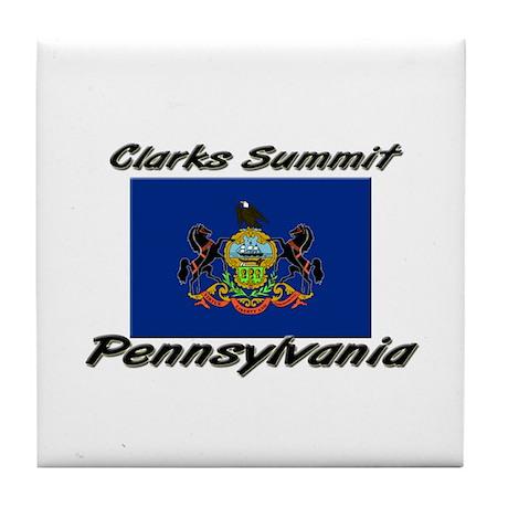 Clarks Summit Pennsylvania Tile Coaster