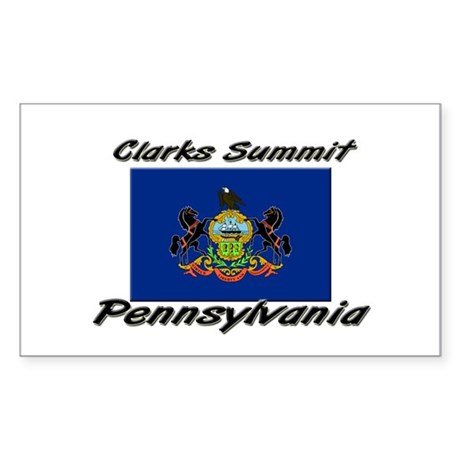 Clarks Summit Pennsylvania Rectangle Sticker