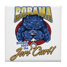 Bobama Jeri Curl! Tile Coaster