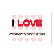 I LOVE ENVIRONMENTAL HEALTH OFFICERS Postcards (Pa