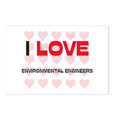 I LOVE ENVIRONMENTAL ENGINEERS Postcards (Package
