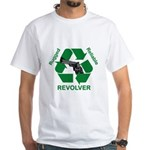 Rugged Reliable Revolver: White T-Shirt