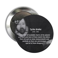 "Astronomy Tycho Brahe 2.25"" Button (10 pack)"
