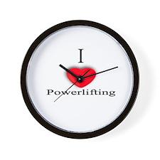 Powerlifting Wall Clock