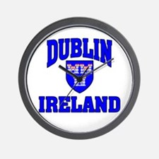 Dublin Ireland Coat of Arms Wall Clock