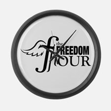 The Freedom Hour Large Wall Clock