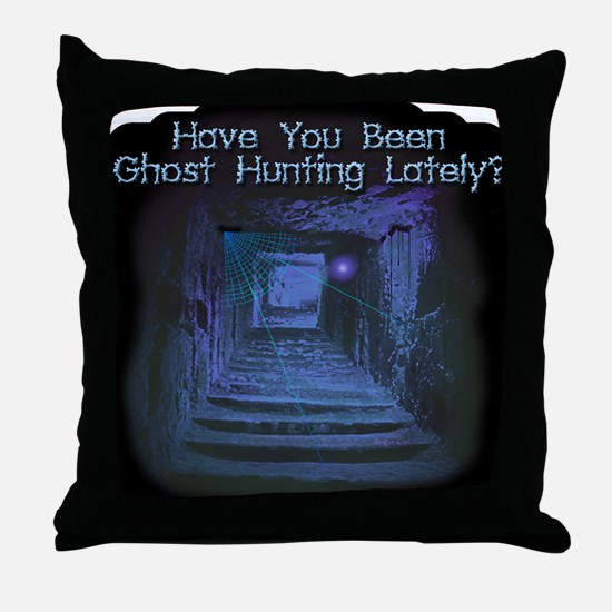 Been Ghost Hunting Lately? Throw Pillow
