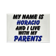 my name is horacio and I live with my parents Rect