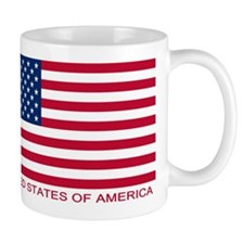 American Flag (labeled) Mug