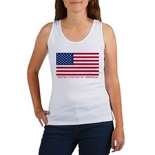 American Flag (labeled) Women's Tank Top