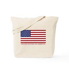 American Flag (labeled) Tote Bag