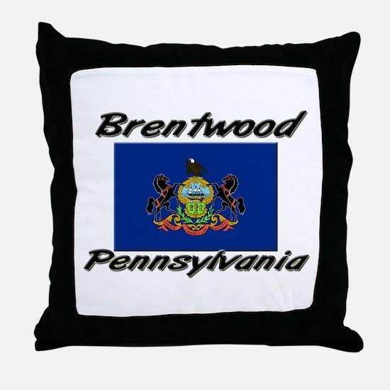 Brentwood Pennsylvania Throw Pillow