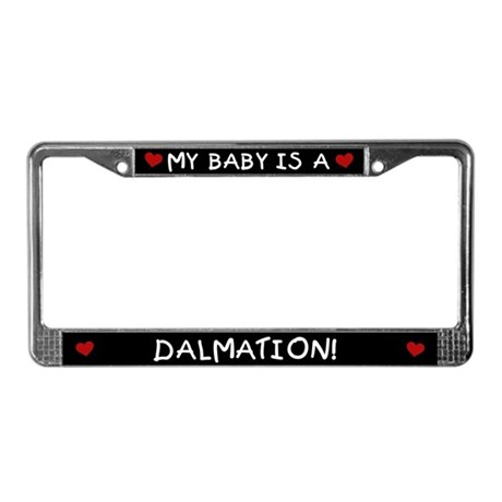 Dalmation License Plate Frame