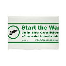 Start the War Rectangle Magnet