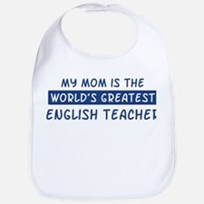 English Teacher Mom Bib