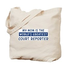 Court Reporter Mom Tote Bag