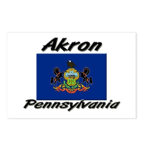 Akron Pennsylvania Postcards (Package of 8)