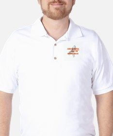 Cancer bites, hazard orange Golf Shirt