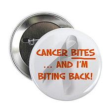 """Cancer bites, hazard orange 2.25"""" Button"""