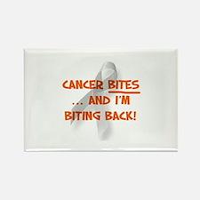 Cancer bites, hazard orange Rectangle Magnet