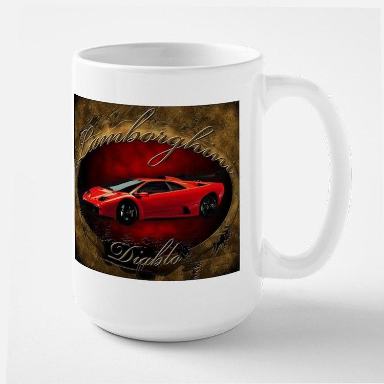 Red Lamborghini Diablo Large Mug
