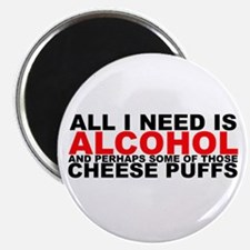 "All I Need is Alcohol 2.25"" Magnet (100 pack)"