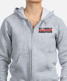 All I Need is Alcohol Zip Hoodie