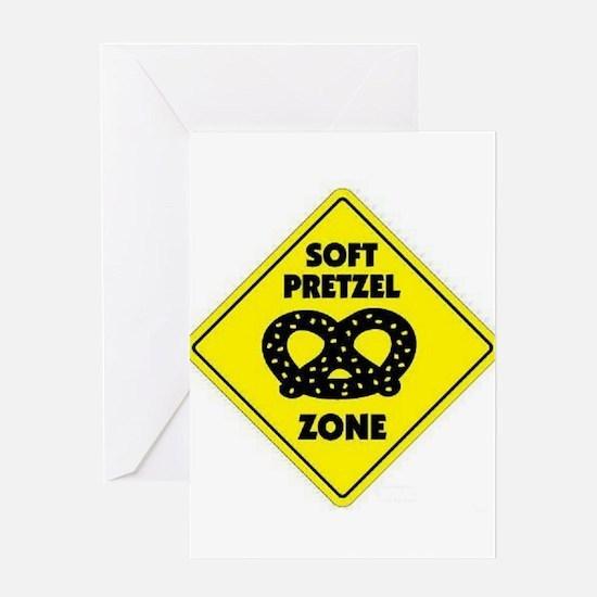 Soft Pretzel Zone Greeting Card