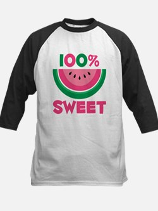 100% Sweet Watermelon Kids Baseball Jersey