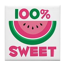 100% Sweet Watermelon Tile Coaster
