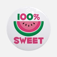 100% Sweet Watermelon Ornament (Round)