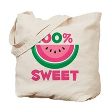 100% Sweet Watermelon Tote Bag