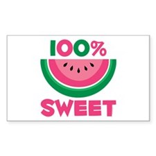 100% Sweet Watermelon Rectangle Decal