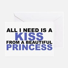 A Kiss From a Princess Greeting Card