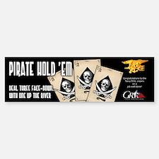 Pirate Hold'Em Bumper Car Car Sticker