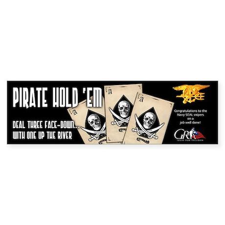 Pirate Hold'Em Bumper Sticker