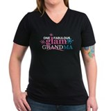 Glamorous grandma Womens V-Neck T-shirts (Dark)