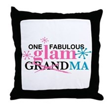Glam Grandma Throw Pillow