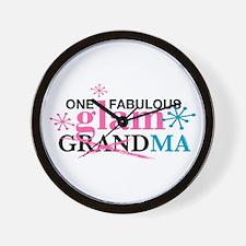 Glam Grandma Wall Clock