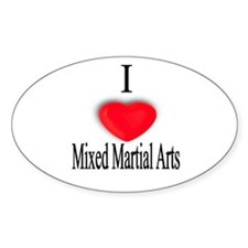 Mixed Martial Arts Oval Decal